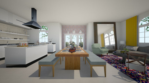 kitchen-living-dinning - by CeliGP