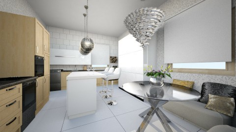 small and smart - Minimal - Kitchen  - by joannaswiatek23