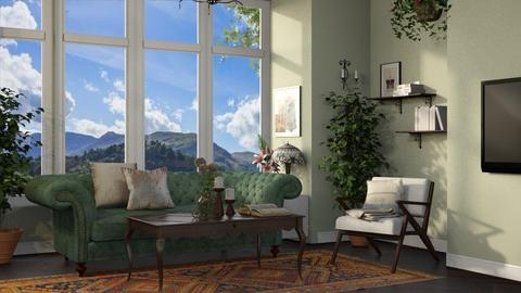 Template Baywindow Room - Living room - by Alda Neziri