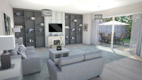 Living room with Garden  - Living room - by Shelley_1