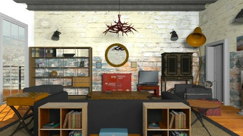 RoughLuxe - Eclectic - Living room  - by camilla_saurus