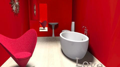 simply, red - Minimal - Bathroom  - by haSo0n