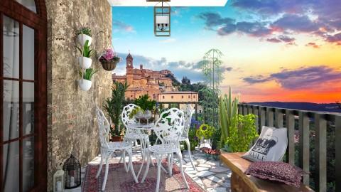 Balcony in Tuscany - Classic - by DeborahArmelin