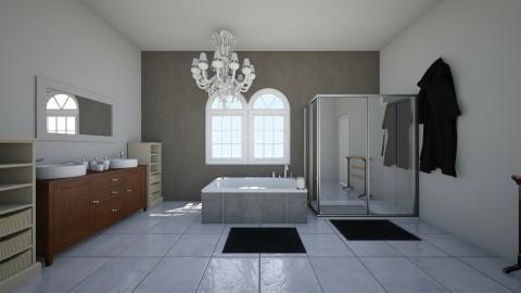 main bathroom - Glamour - Bathroom  - by vicrtoria