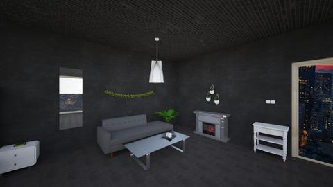 corridor and fire place - Modern - Living room  - by afrida nawar