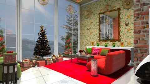 Winter Wonderland Room - Vintage - Living room  - by wiljun