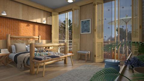 Orange Bricks2 - Bedroom  - by ZuzanaDesign