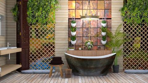 Woodsy Bath - Bathroom  - by Feeny