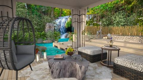Tropical Rainforest Patio - Garden  - by bigmama14