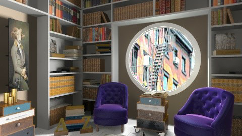 Books - Vintage - Office  - by amandafern