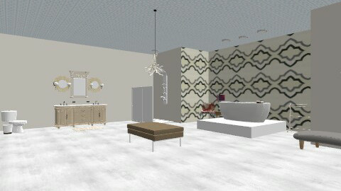 Beige Master Bath - Glamour - Bathroom  - by ashleyhenaine