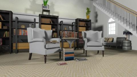 Library - Modern - Office  - by devonsia