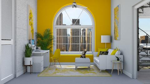 Yellow_Working_Space - Office  - by Cassidyy