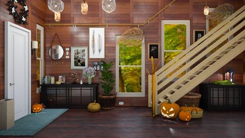 Autumn Hallway - Country - Living room  - by M i n h  T a m