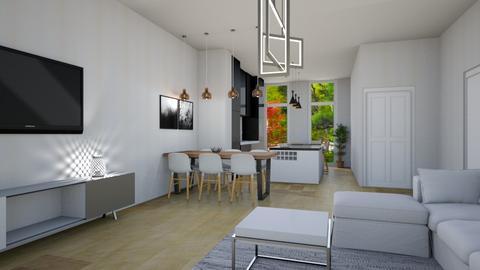 Living kitchen v2 - Modern - Living room  - by mshayashi