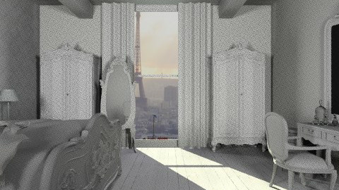 Paris - Glamour - Bedroom - by josephinesw