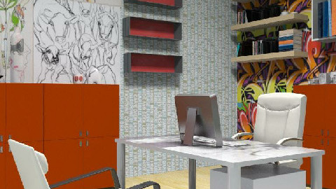 Undone Office Space - Modern - Office  - by jenshadow_222