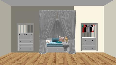 Cozy Built In Bedroom - Vintage - Bedroom  - by freakapotimus