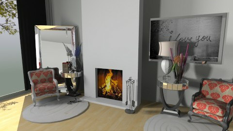 Home1_Living_part - Glamour - Living room  - by klumea
