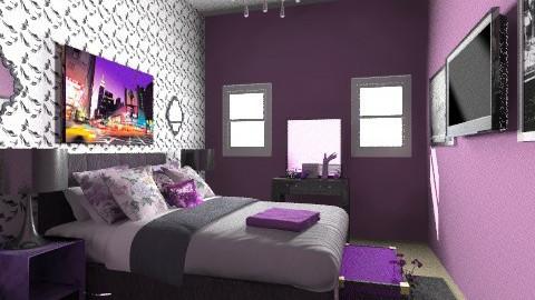 Purple - Vintage - Bedroom  - by AubriG88