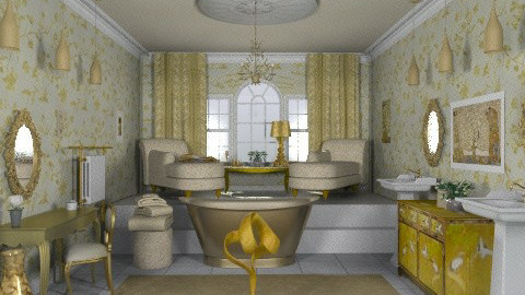 Gold bath - Glamour - Bathroom  - by alleypea