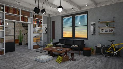 industrial - Masculine - Living room  - by oanav