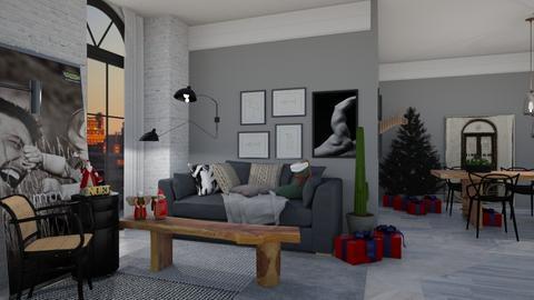 single brazil  - Living room - by thiag