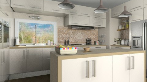 Almond - Modern - Kitchen  - by Bibiche