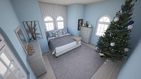 Blue Christmas Bedroom - Bedroom  - by TheDino
