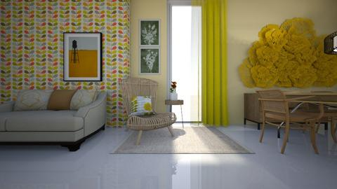 yellow - Living room - by ana111