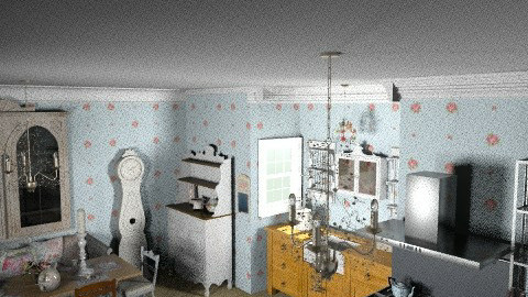 shabby chic kitchen - Vintage - Kitchen  - by mywishlr