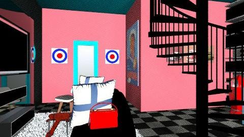 Gamer Room - Vintage - Living room  - by camillecure