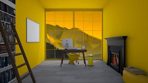 Yellow Study Room  - Office  - by Popcorn the Designer
