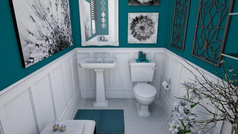 Teal  - Bathroom  - by Amyz625