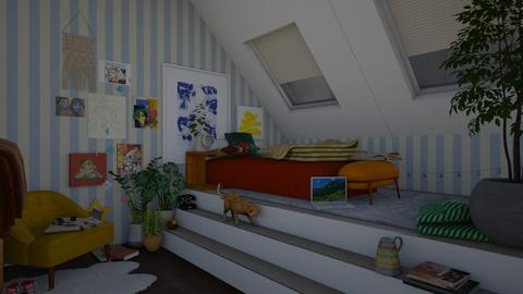 an art teens bedroom - Eclectic - Bedroom  - by meganlizz