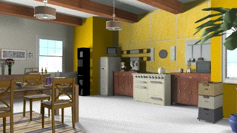 Y simple Kitchen - Country - Kitchen  - by Iren89