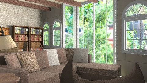 By the Garden - Rustic - Living room  - by qidddy