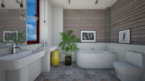 Simple Again Bath - Bathroom  - by 3rdfloor