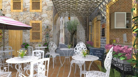 Coffee Shop - Rustic - Garden  - by Bibiche