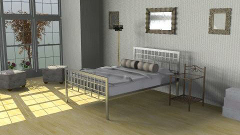 cute and budgeted- 738 pounds - Retro - Bedroom  - by Ariadne491