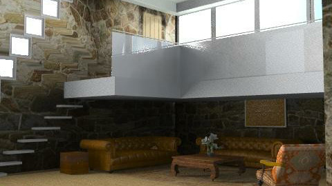BarnConversion - Rustic - Living room  - by camilla_saurus