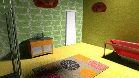 Retro colour - Retro - Bathroom  - by tillsa98