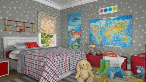 Little Traveller - Eclectic - Kids room  - by Theadora