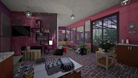 PurplePink livingmirrors - Eclectic - Living room  - by PAPIdesigns