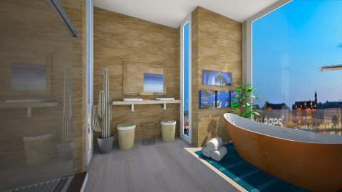 hotel bathroom - Modern - Bathroom  - by CasuallyCrystalClear