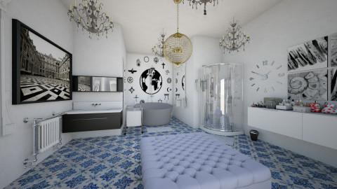bathroom for a queen  - Glamour - Bathroom  - by rachelfox985