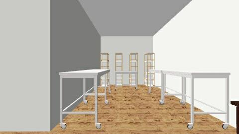 Encaustic Studio - Minimal - Office  - by glcurry