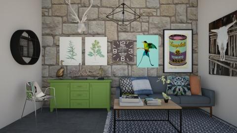 R4 - Retro - Living room  - by Karim Mahfouz