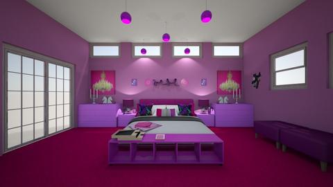 MY PINK PURPULE LUXURY - Feminine - Bedroom  - by mariarosaly