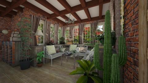 Garden house - Rustic - Living room  - by michalbank11
